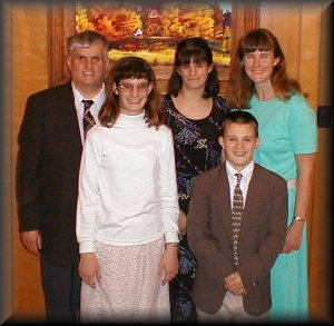 Pastor Dean Harner and family
