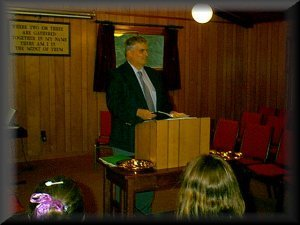 Pastor Dean Harner preaching
